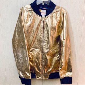 Cat & Jack Gold Lame' Jacket For Girls